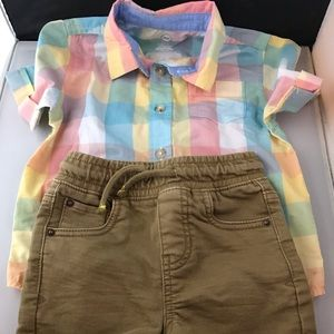 Child's Shorts (18 Months) and Shirt (3T) Clothes